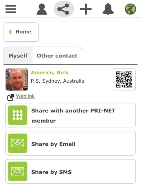 Share contacts and contact information